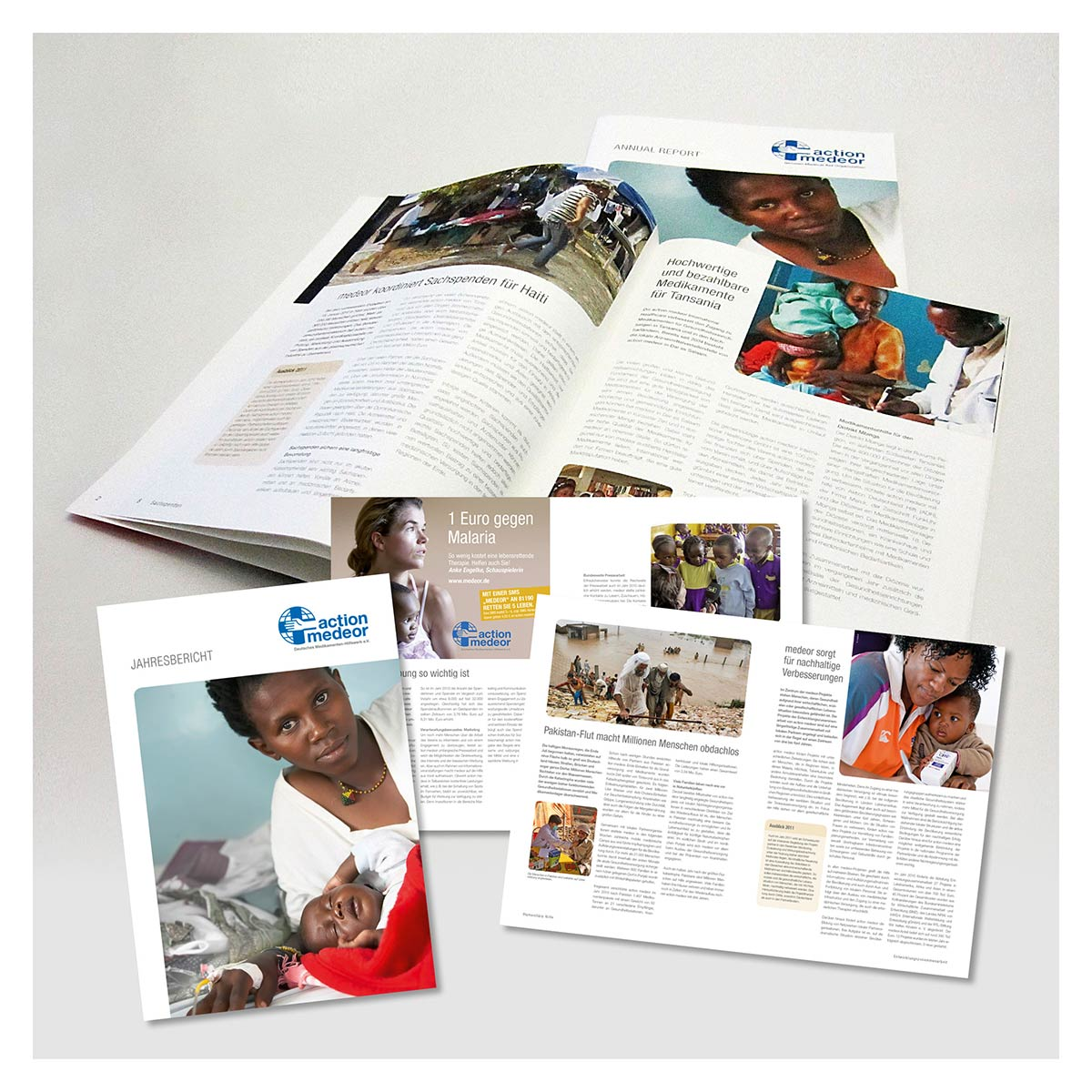 Broschüre für das Medikamentenhilfswerk action medeor von Reiber Marketing