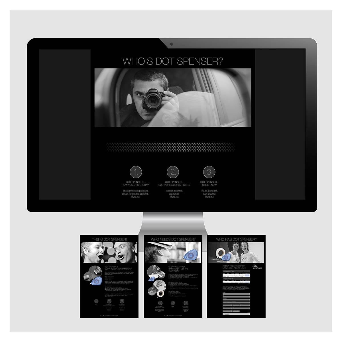 Internetseite für Dot Spenser by Neschen von Marketingagentur aus Krefeld