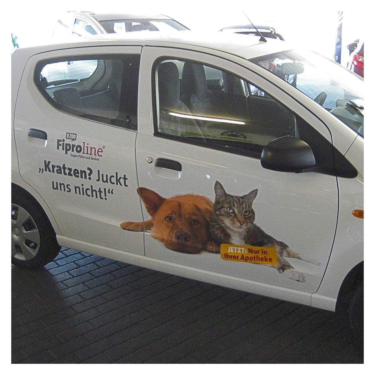 Fahrzeugbeschriftung Fiproline, Werbeagentur