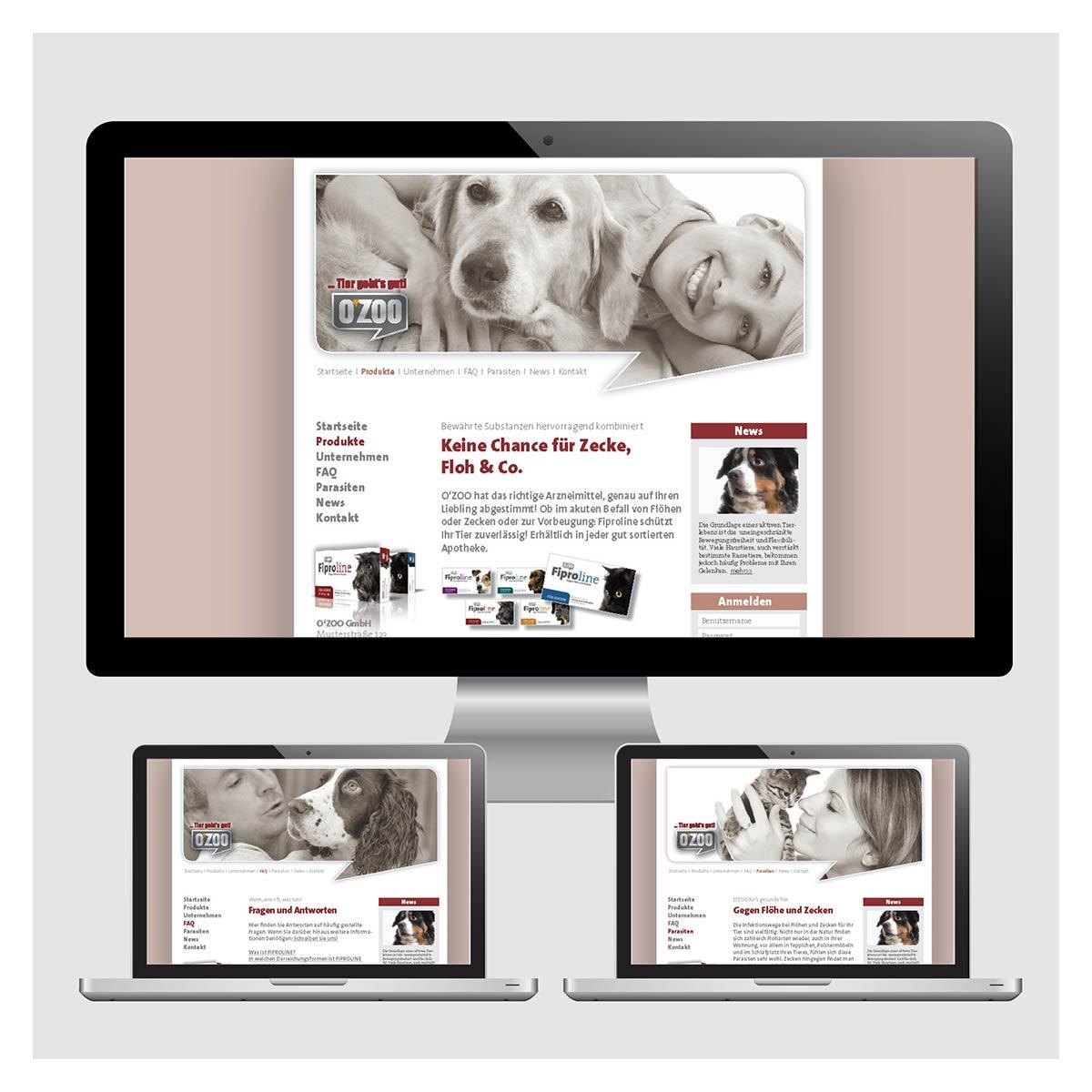 Homepage für die Firma O´ZOO